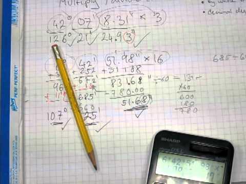 Multiply and divide deg-min-sec; convert d-m-s to decimal degrees