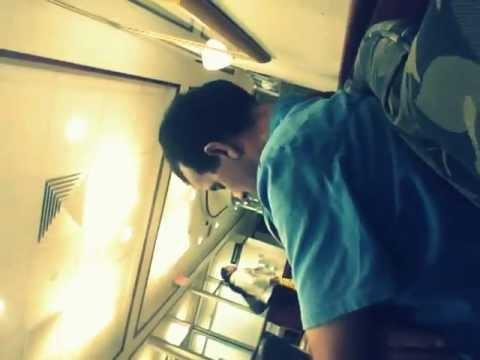 a guy sleeping in hospital