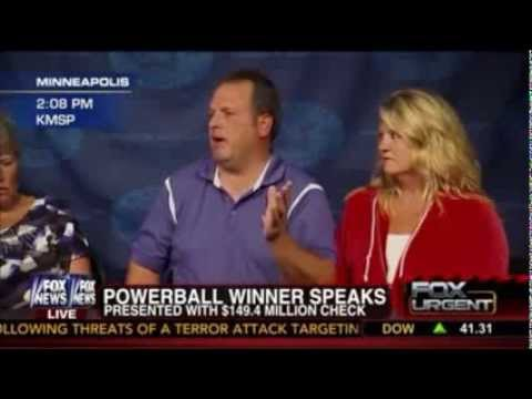 Powerball Winner Paul White Hilarious Press Conference After Winning