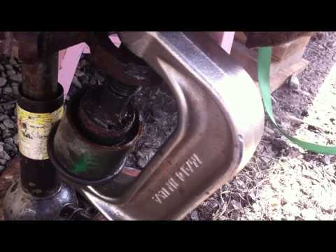 Press out lower ball joint on fj cruiser
