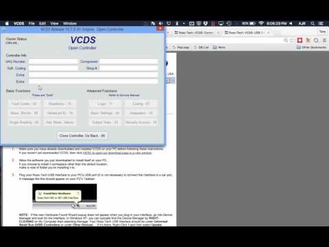 Using VCDS on Mac (Parallels)