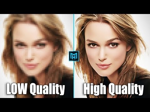 How to depixelate images And Convert Into High Quality Photo in Photoshop