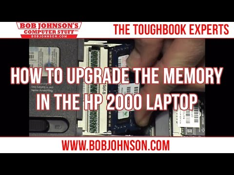 How to upgrade the memory in the HP 2000 Laptop