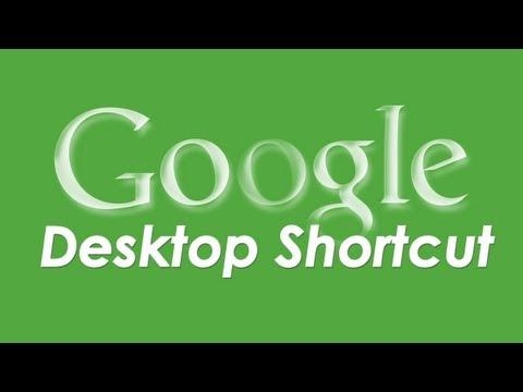 Make Google.com shortcut on desktop