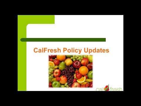 October 30, 2014 CalFresh Policy Webinar for Outreach