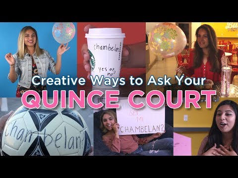 Quinceanera Court Invitation Ideas: DIY Quince Proposals