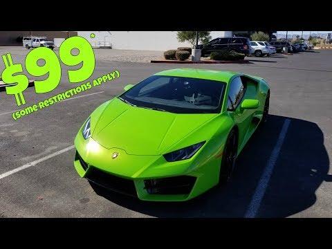 I Rented a Lamborghini for $99 (You can TOO!)