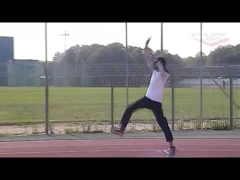 High jump drill - Last 3 steps and take-off demo