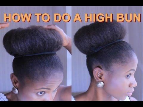 HIGH BUN | On Short  Hair