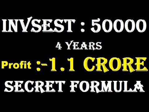 How to Make 1.1 CRORE Just Investment 50000 in 4 Years || Jackpot stock 2018