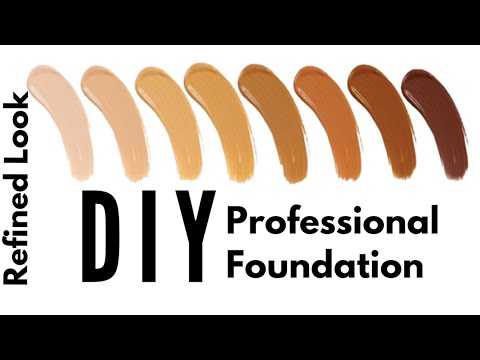 DIY Mineral Foundation | How to make foundation at home easy |  Like a pro
