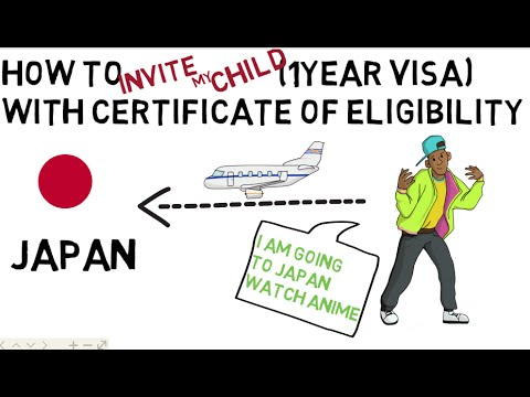 How to Invite my child to Japan with Certificate of Eligibility (IN JAPAN)ENGLISH SUBS
