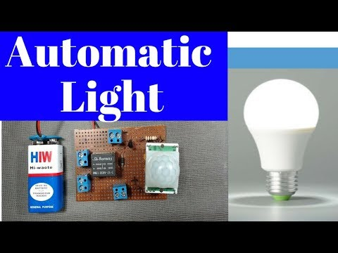 pir automatic light on off at home | automatic light control system