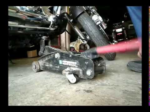 How to jack up motorcycle with a car jack