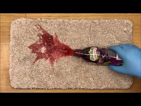 How to remove a Ribena stain from carpet with Prochem Red RX