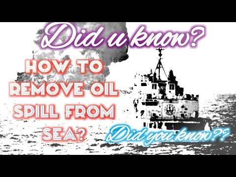 REMOVAL OF OIL SPILL