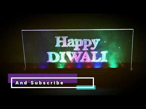 How to make Acrylic Glass Display board   Diwali Special   Happy diwali   Desi Lifehacker
