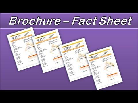 Microsoft Word Create a Brochure or Factsheet.  AOTraining.net