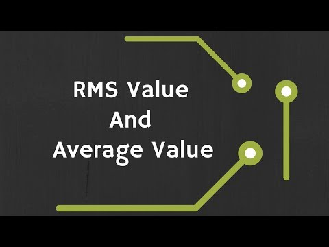 RMS (Root Mean Square) Value and Average Value of AC Signals