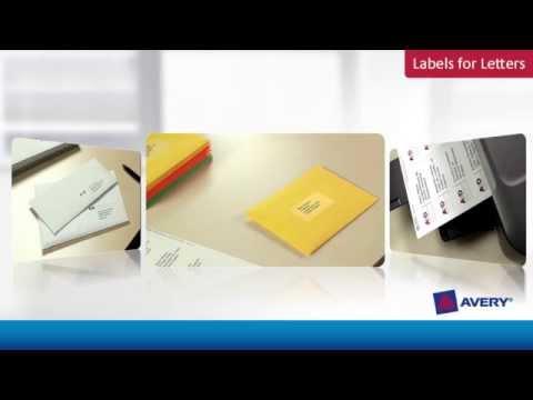 Avery Labels for Letters & Envelopes
