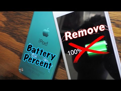 Remove Battery Percent on iPod touch (Guide)