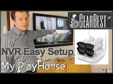 Easy Wifi NVR Surveillance System install from GearBest - 580