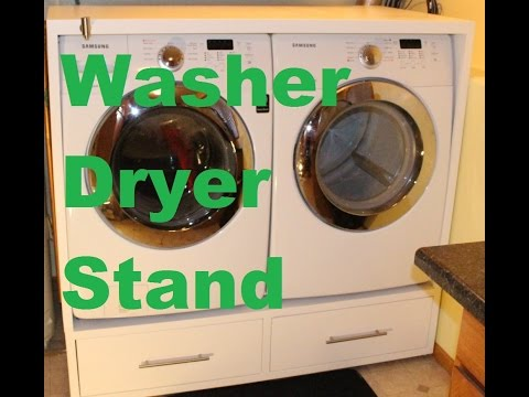 Washer and Dryer Stand - with detergent dispenser feature!