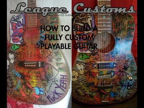 How to Build a Guitar: Turning an old acoustic into a semi hollow dreadnought