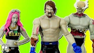 AJ Styles, Sasha Banks, Stone Cold Steve Austin WWE Zombies Set 2 Toy Unboxing & Review!!