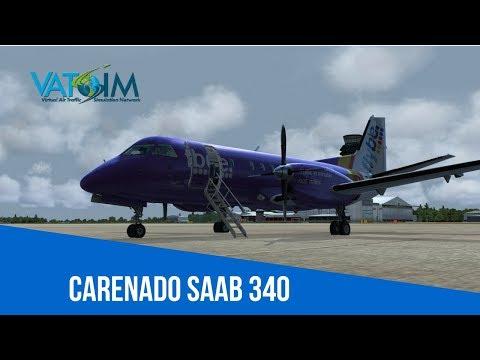 [VATSIM Flight] Flybe - Manchester to Dublin [Carenado Saab 340] [P3Dv4] Live Stream 30/04/2018