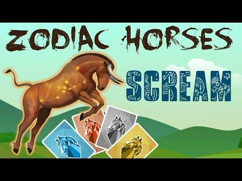 Scream (Howrse Equestrian Job Cards) - Zodiac Horses