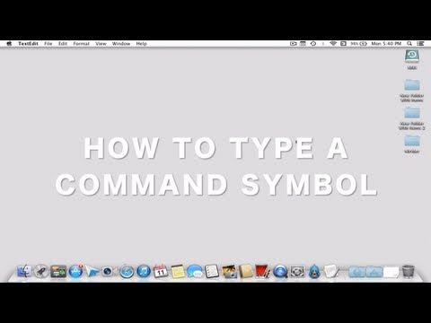 How to insert a command symbol in mac