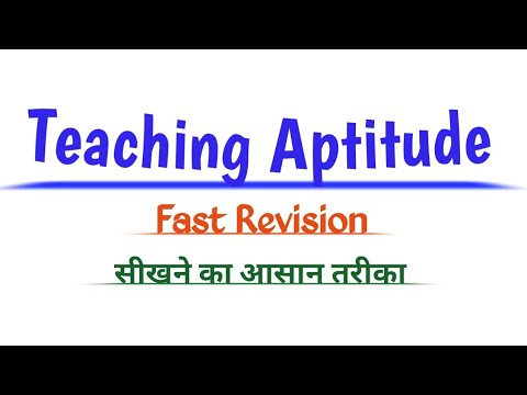 Teaching Aptitude  fast revision for UGC net first paper