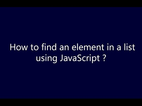How to find an element in the list using JavaScript ?