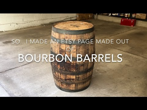 I created an Etsy Page: Bourbon Barrel Furniture