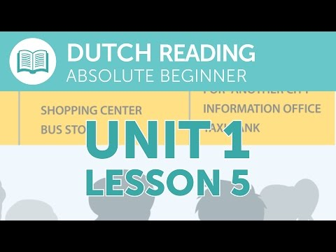 Dutch Reading for Absolute Beginners - Taking a Taxi from the Station