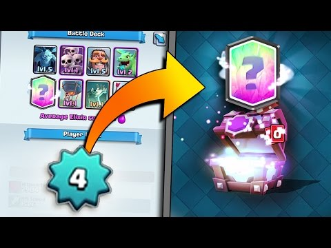 Clash Royale LEVEL 4 NOOB GETS LEGENDARY CARD!! LEGENDARY SUPER MAGICAL CHEST HUNT!