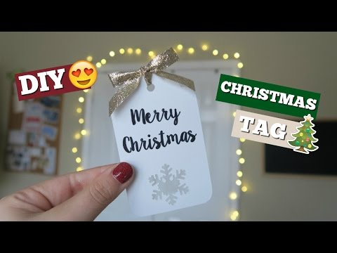 DIY CHRISTMAS TAG | CRICUT PROJECT