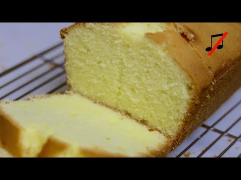 Butter cake/ Pound Cake recipe(no music) --Cooking A dream