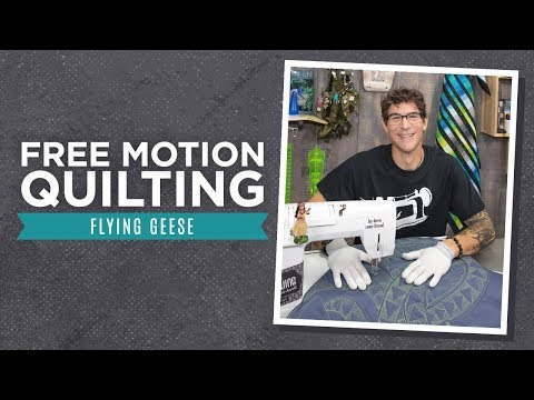 How to Free Motion Quilt Flying Geese