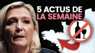 La France a un problème d'alcool, Le Pen est candidate, l'Iran sous tension... 5 actus de la semaine