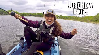 GIGANTIC Bass Caught Kayak Fishing (New PB!)