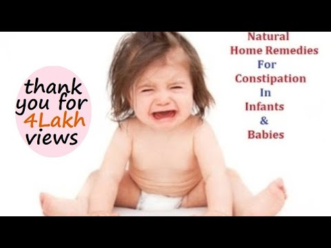Constipation In Infants And Babies Home Remedies - All Natural