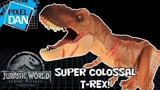 Colossal Tyrannosaurus Rex Jurassic World Fallen Kingdom Mattel Huge T-Rex Figure Video Review