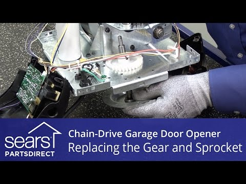 Replacing the Gear and Sprocket Assembly on a Chain-Drive Garage Door Opener