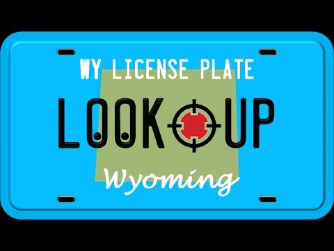 How to Reverse Search a Wyoming License Plate Number