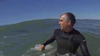 Great White Shark Surprises Solitary Surfer