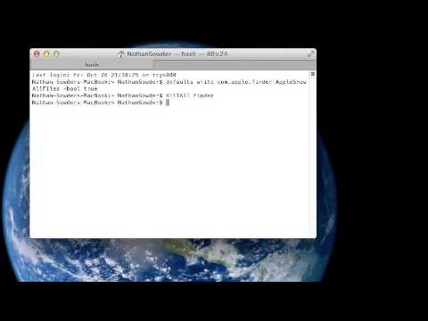 How to Show hidden files on a MAC.