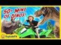 Dinosaur Adventure With 50 Minutes Of T Rex Fun Kids Surprise Toys
