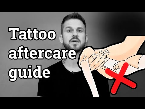How To Care For New Tattoo Correctly   Aftercare Guide